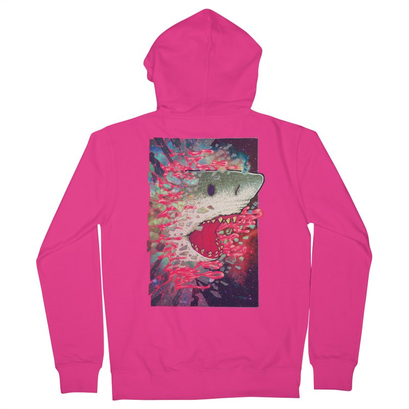 SHARK FROM OUTER SPACE Men's Zip-Up Hoody by villainmazk's Artist Shop