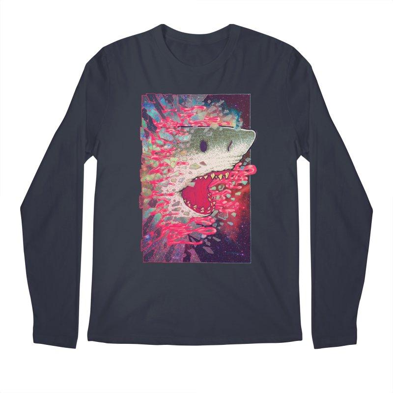SHARK FROM OUTER SPACE Men's Longsleeve T-Shirt by villainmazk's Artist Shop