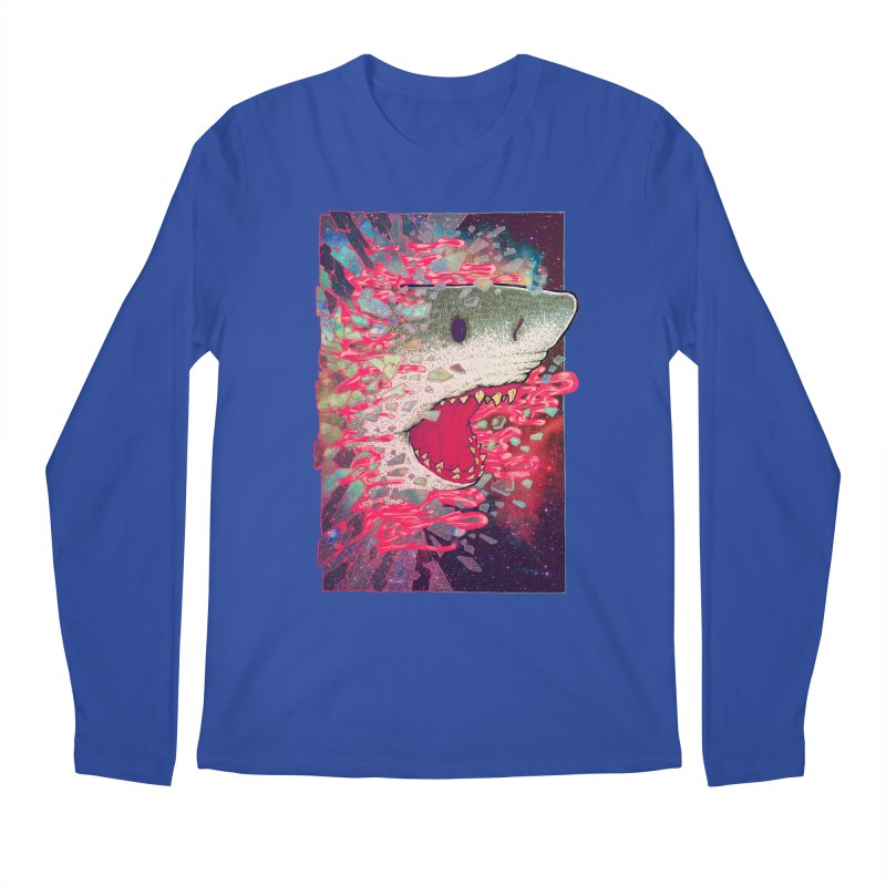 SHARK FROM OUTER SPACE Men's Longsleeve T-Shirt by villainmazk's Artist Shop