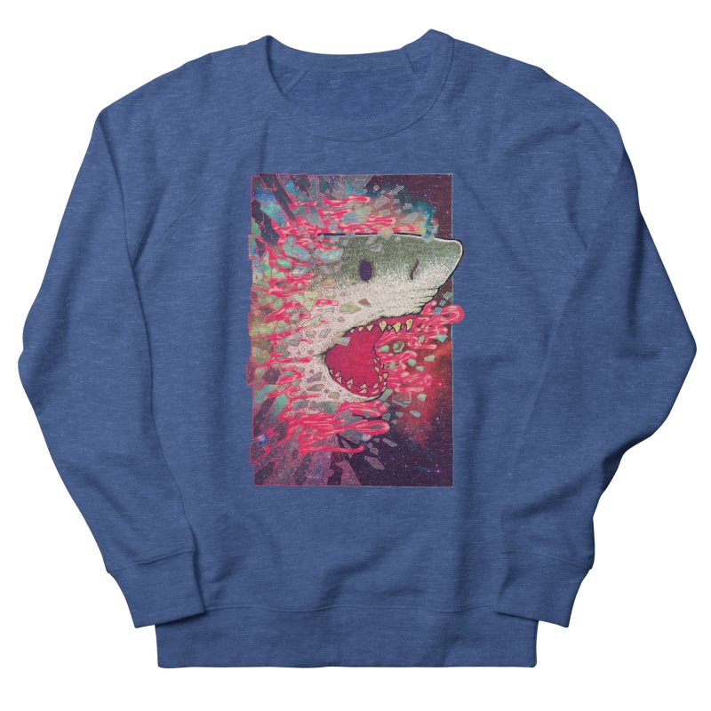SHARK FROM OUTER SPACE Men's Sweatshirt by villainmazk's Artist Shop