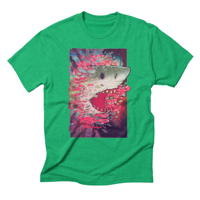 SHARK FROM OUTER SPACE Men's T-Shirt by villainmazk's Artist Shop