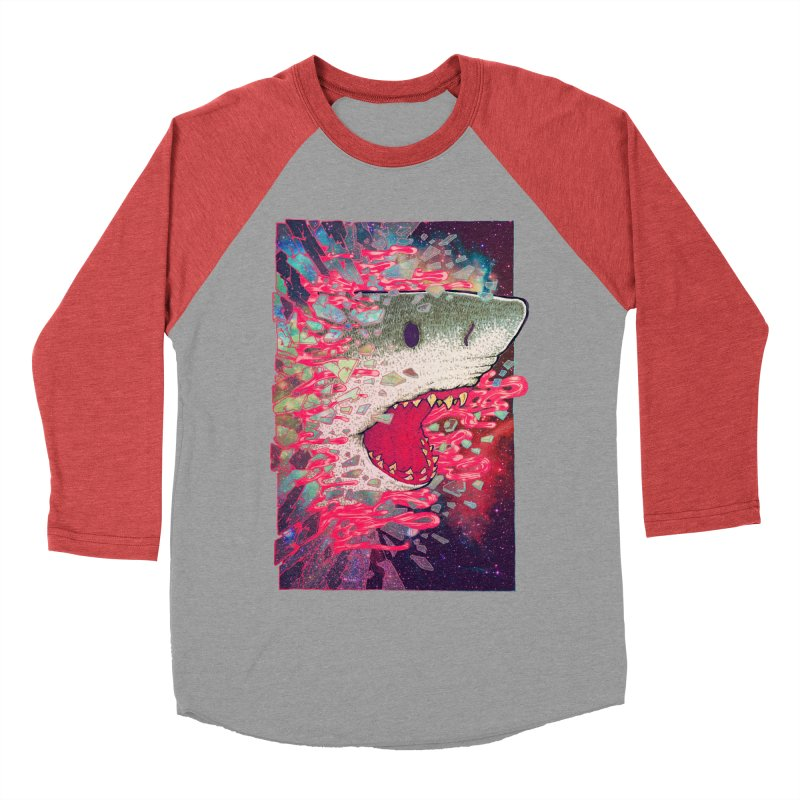 SHARK FROM OUTER SPACE Women's Longsleeve T-Shirt by villainmazk's Artist Shop