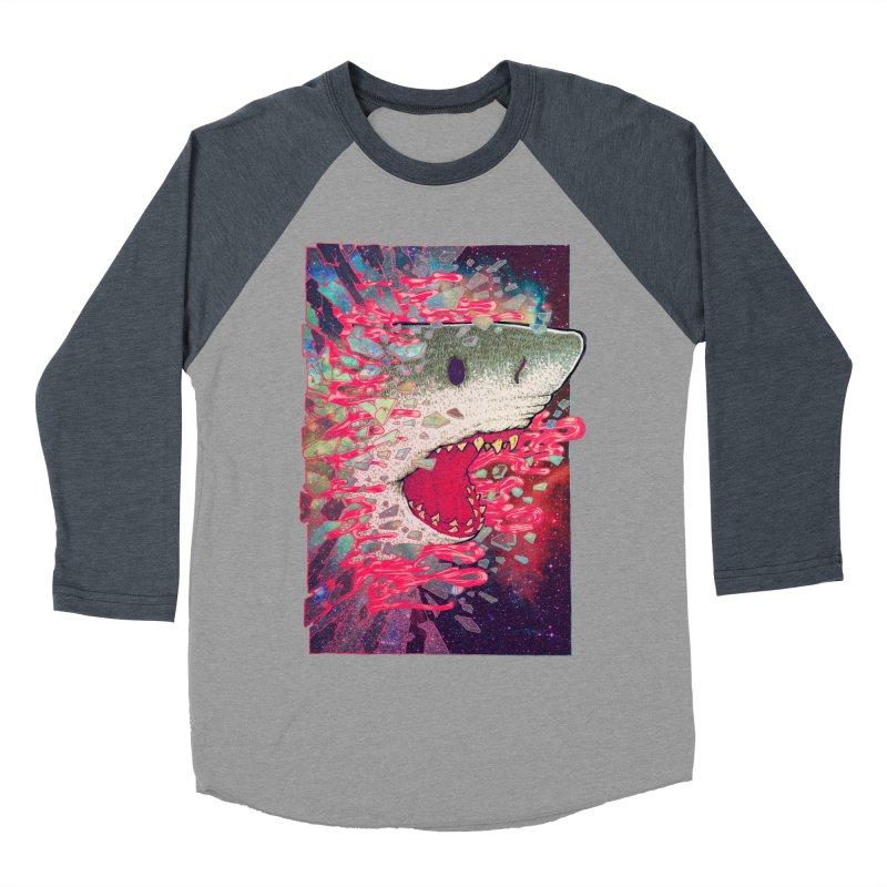 SHARK FROM OUTER SPACE Women's Baseball Triblend T-Shirt by villainmazk's Artist Shop