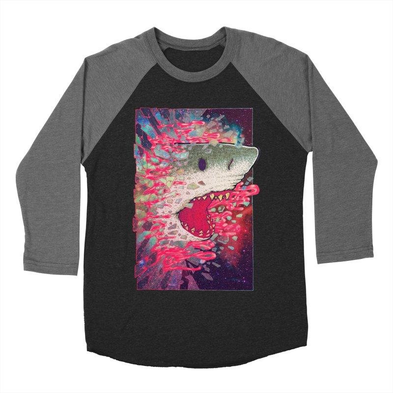 SHARK FROM OUTER SPACE Men's Baseball Triblend T-Shirt by villainmazk's Artist Shop