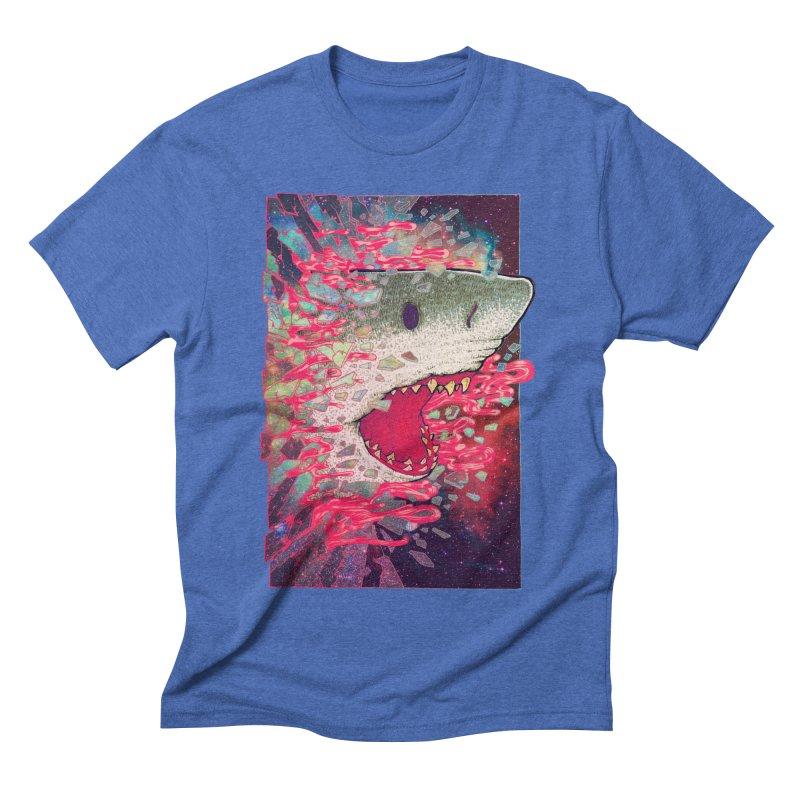 SHARK FROM OUTER SPACE Men's Triblend T-shirt by villainmazk's Artist Shop