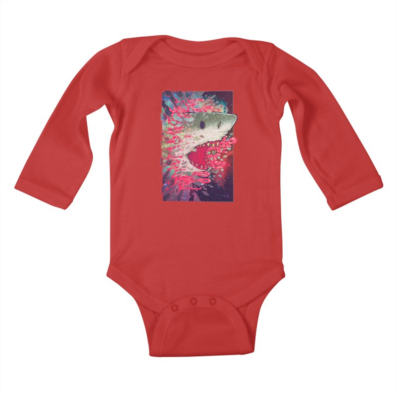 SHARK FROM OUTER SPACE Kids Baby Longsleeve Bodysuit by villainmazk's Artist Shop