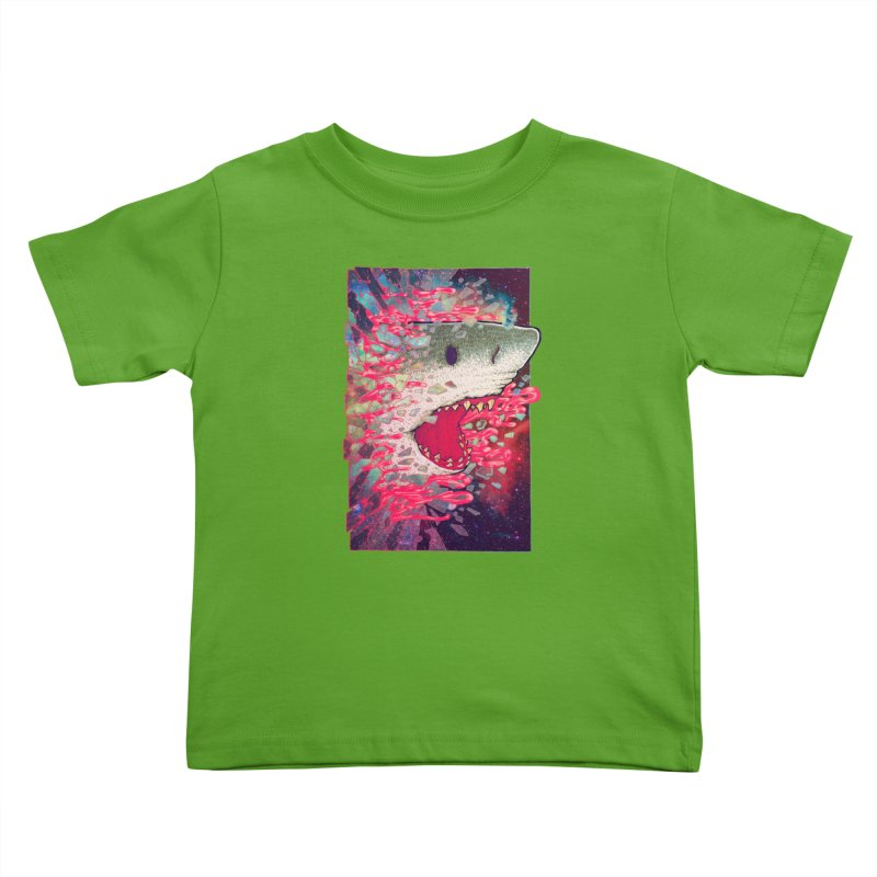 SHARK FROM OUTER SPACE Kids Toddler T-Shirt by villainmazk's Artist Shop