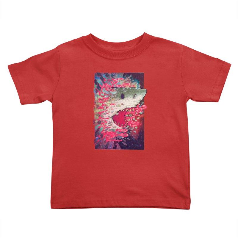 SHARK FROM OUTER SPACE Kids Toddler T-Shirt by villainmazk's Artist Shop