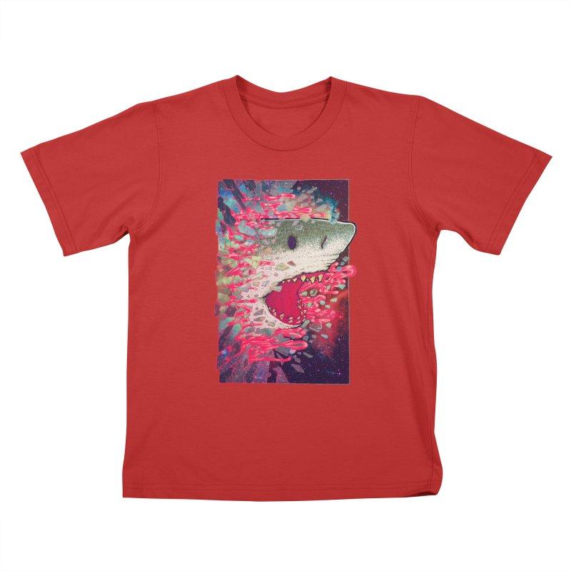 SHARK FROM OUTER SPACE Kids T-Shirt by villainmazk's Artist Shop