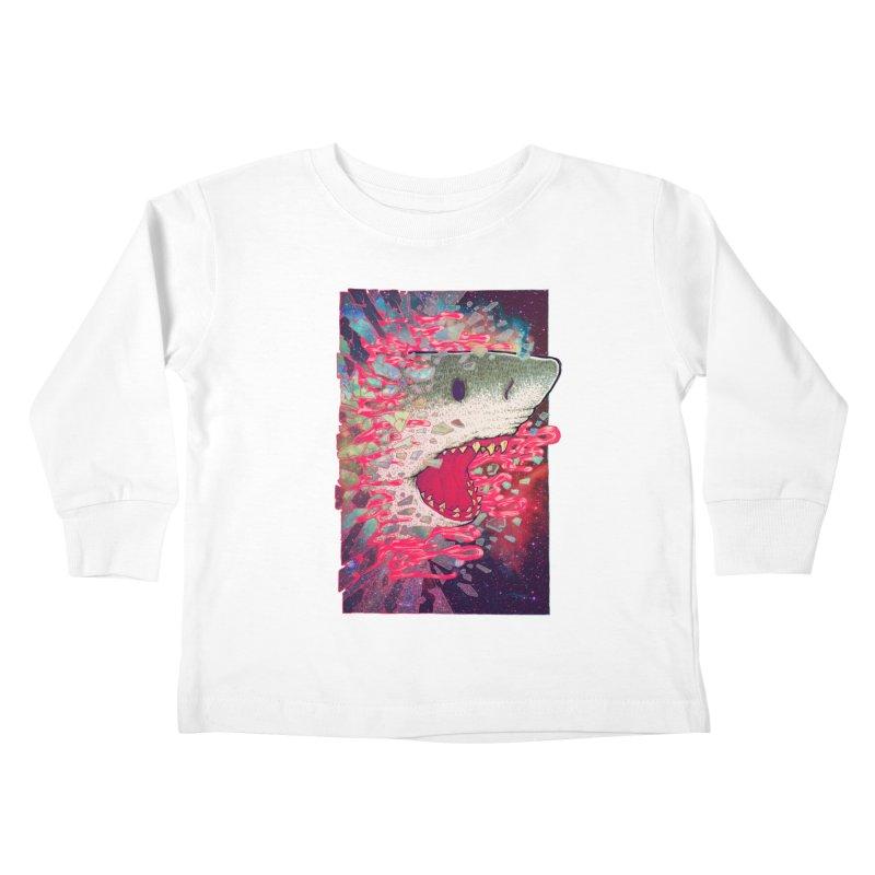 SHARK FROM OUTER SPACE Kids Toddler Longsleeve T-Shirt by villainmazk's Artist Shop