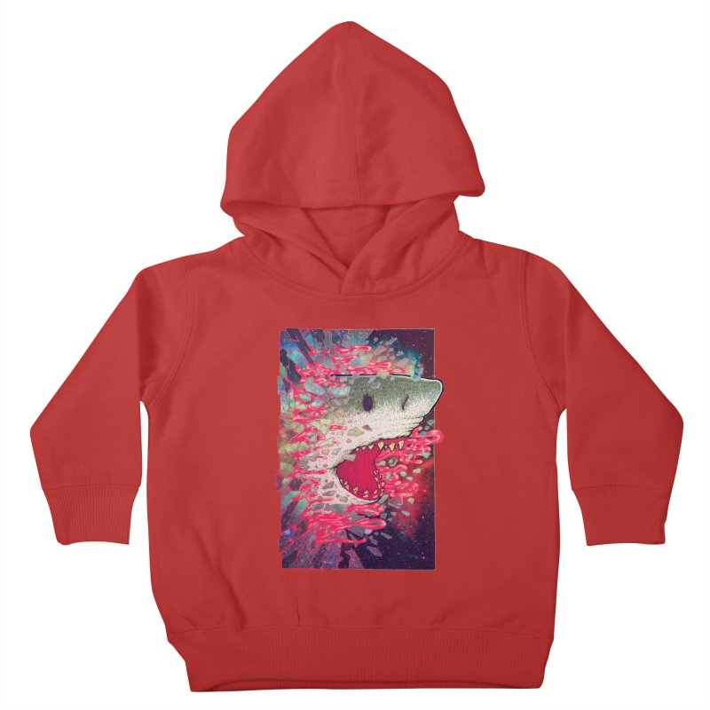 SHARK FROM OUTER SPACE Kids Toddler Pullover Hoody by villainmazk's Artist Shop