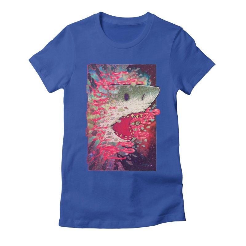 SHARK FROM OUTER SPACE Women's T-Shirt by villainmazk's Artist Shop
