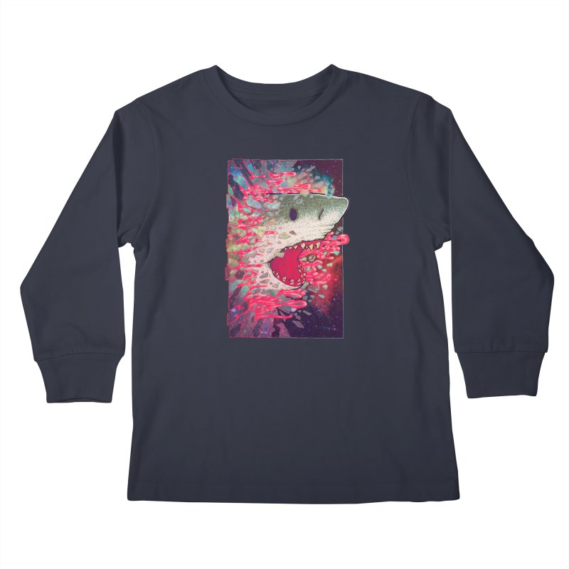 SHARK FROM OUTER SPACE Kids Longsleeve T-Shirt by villainmazk's Artist Shop