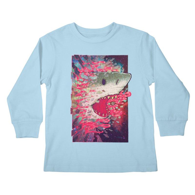 SHARK FROM OUTER SPACE Kids Longsleeve T-Shirt by villainmazk's Artist Shop