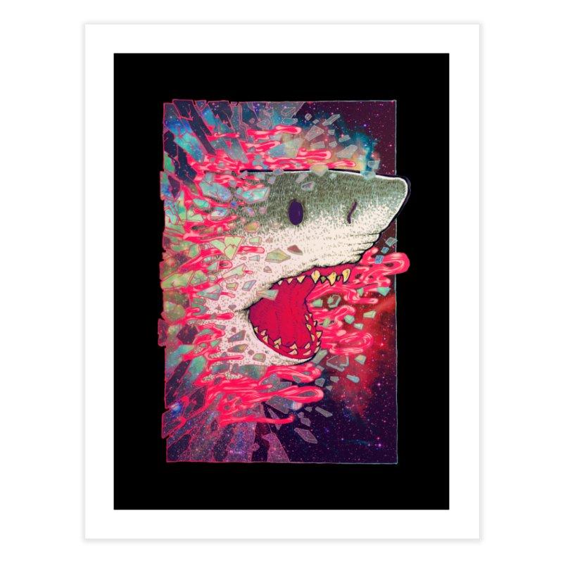 SHARK FROM OUTER SPACE Home Fine Art Print by villainmazk's Artist Shop