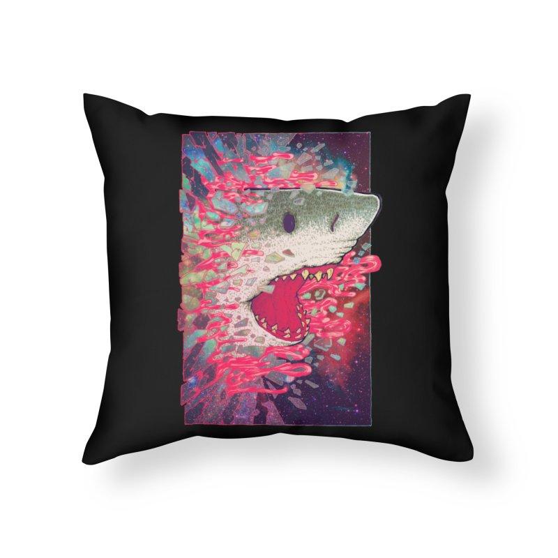 SHARK FROM OUTER SPACE Home Throw Pillow by villainmazk's Artist Shop