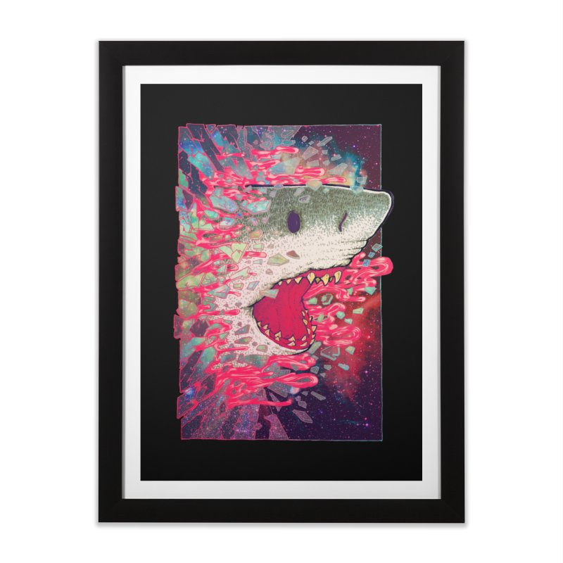 SHARK FROM OUTER SPACE Home Framed Fine Art Print by villainmazk's Artist Shop