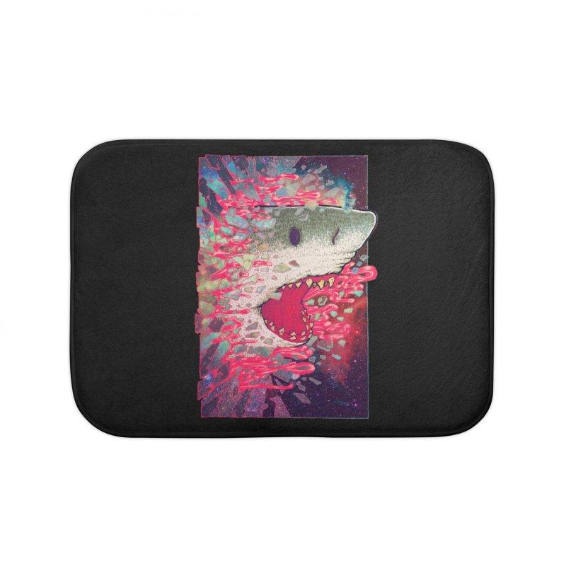 SHARK FROM OUTER SPACE Home Bath Mat by villainmazk's Artist Shop