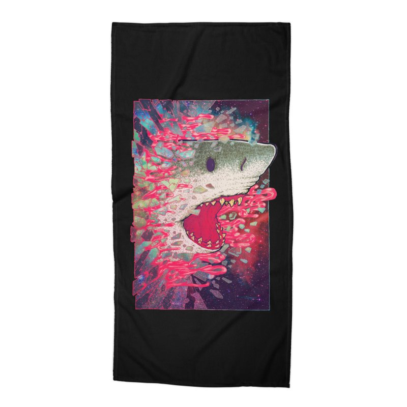 SHARK FROM OUTER SPACE Accessories Beach Towel by villainmazk's Artist Shop