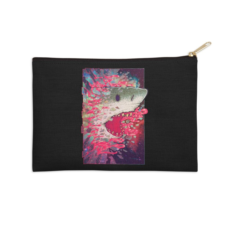 SHARK FROM OUTER SPACE Accessories Zip Pouch by villainmazk's Artist Shop