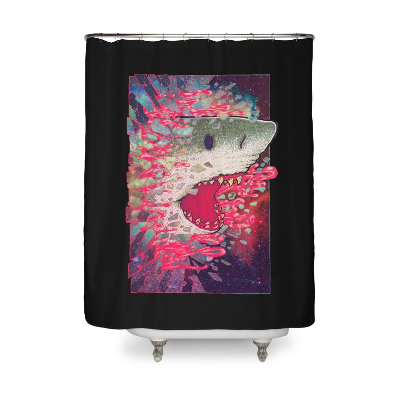 SHARK FROM OUTER SPACE Home Shower Curtain by villainmazk's Artist Shop