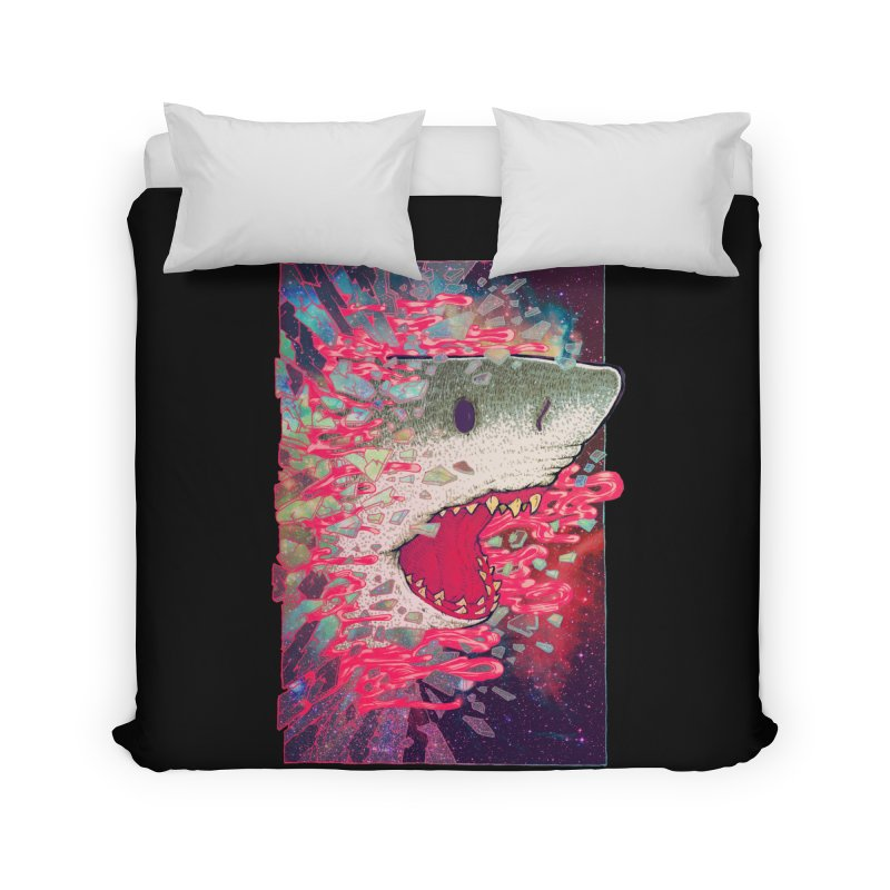 SHARK FROM OUTER SPACE Home Duvet by villainmazk's Artist Shop