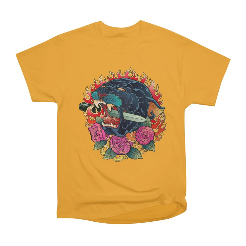 Burning Roses  Women's Classic Unisex T-Shirt by villainmazk's Artist Shop