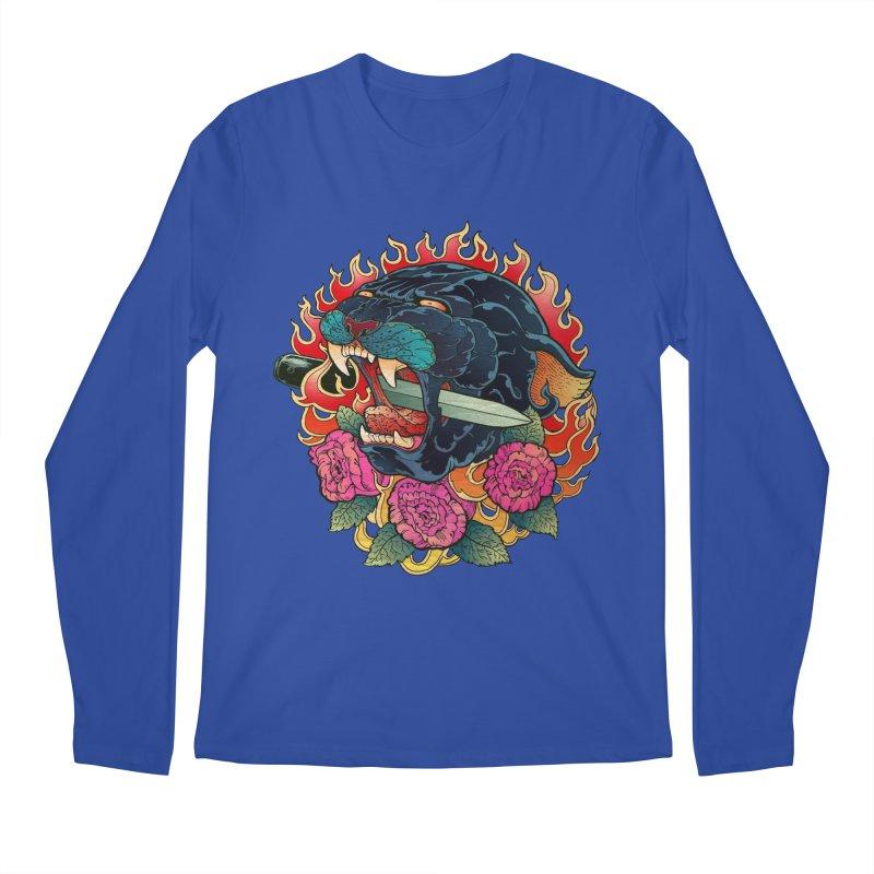 Burning Roses  Men's Longsleeve T-Shirt by villainmazk's Artist Shop