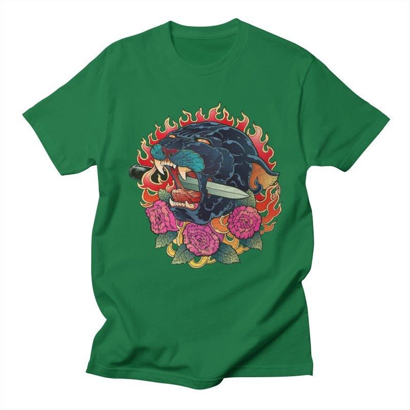 Burning Roses  Women's Unisex T-Shirt by villainmazk's Artist Shop