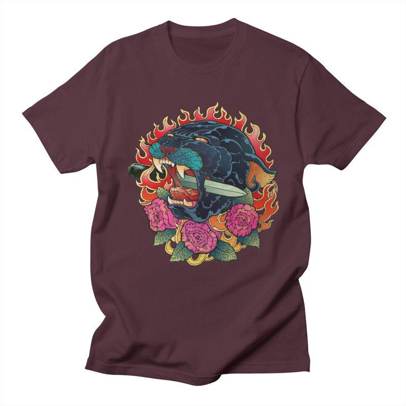 Burning Roses  Men's T-Shirt by villainmazk's Artist Shop