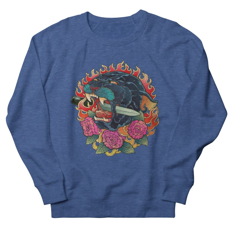 Burning Roses  Women's Sweatshirt by villainmazk's Artist Shop