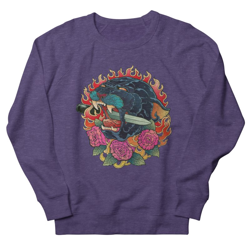 Burning Roses  Men's Sweatshirt by villainmazk's Artist Shop