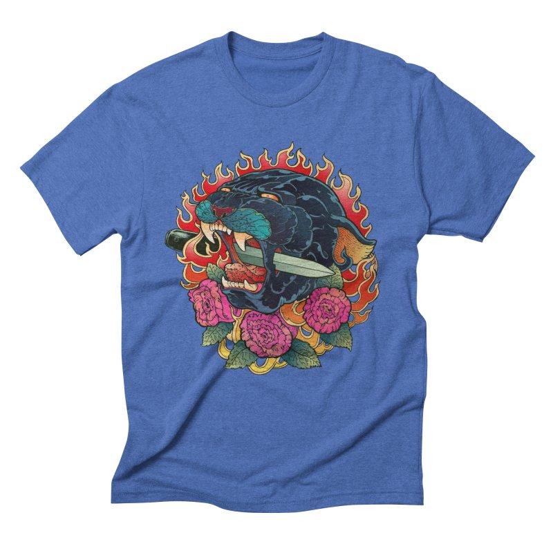 Burning Roses  Men's Triblend T-Shirt by villainmazk's Artist Shop