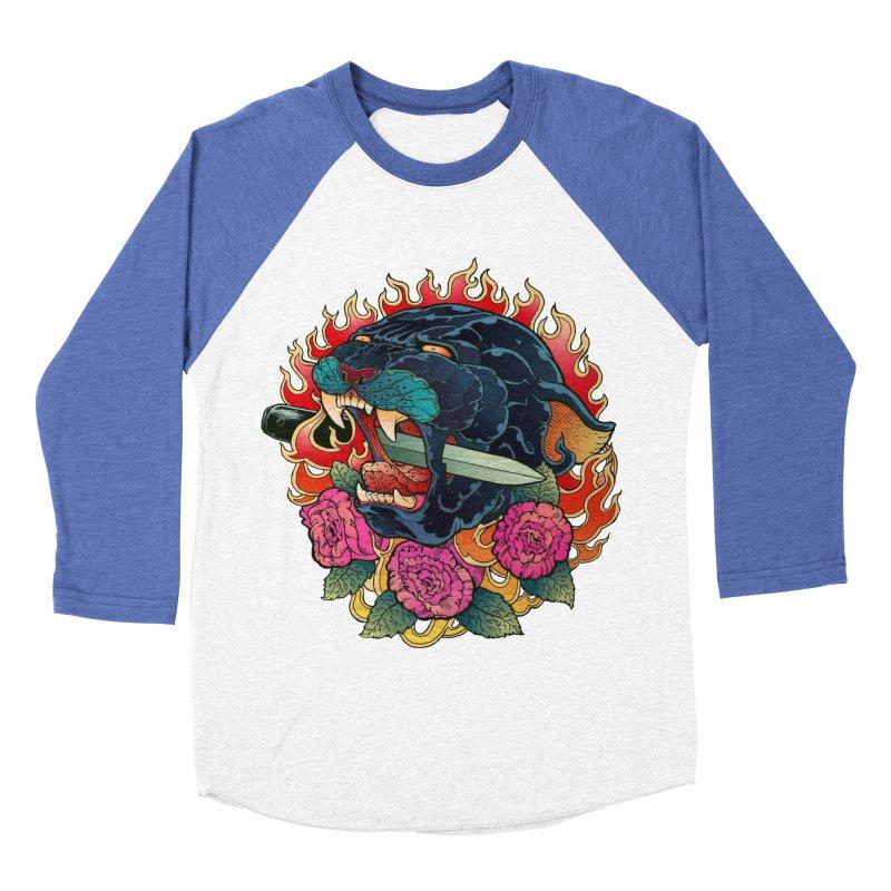 Burning Roses  Women's Baseball Triblend T-Shirt by villainmazk's Artist Shop