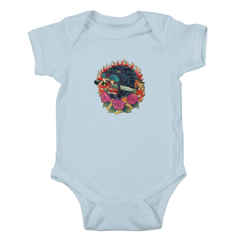 Burning Roses  Kids Baby Bodysuit by villainmazk's Artist Shop