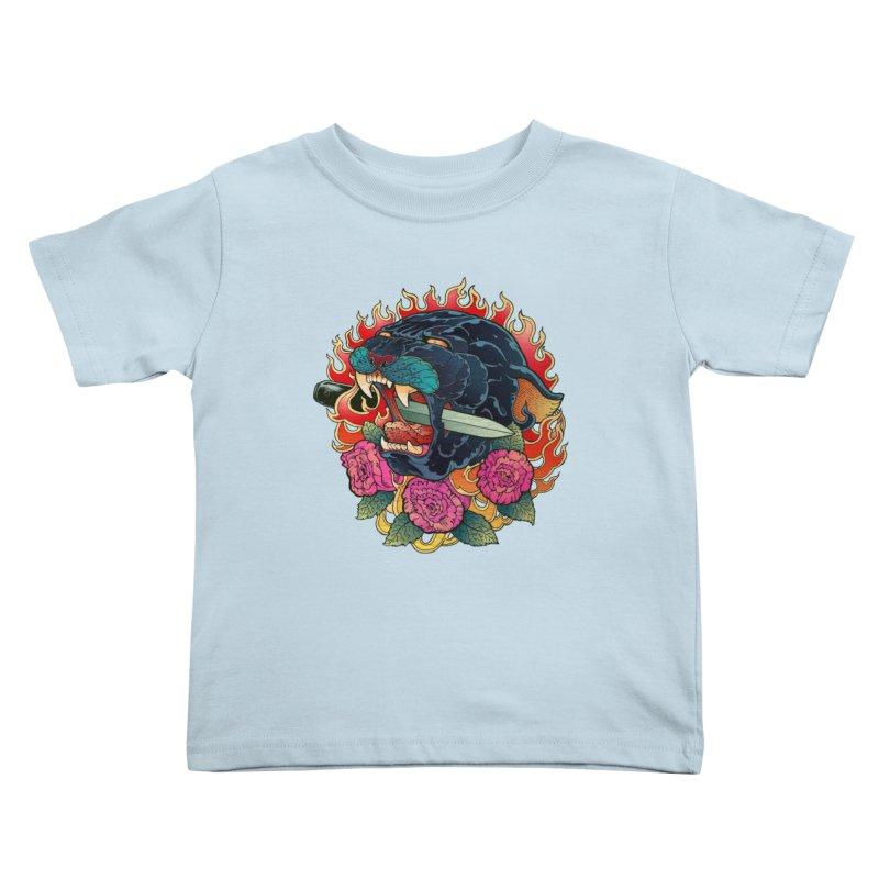 Burning Roses  Kids Toddler T-Shirt by villainmazk's Artist Shop