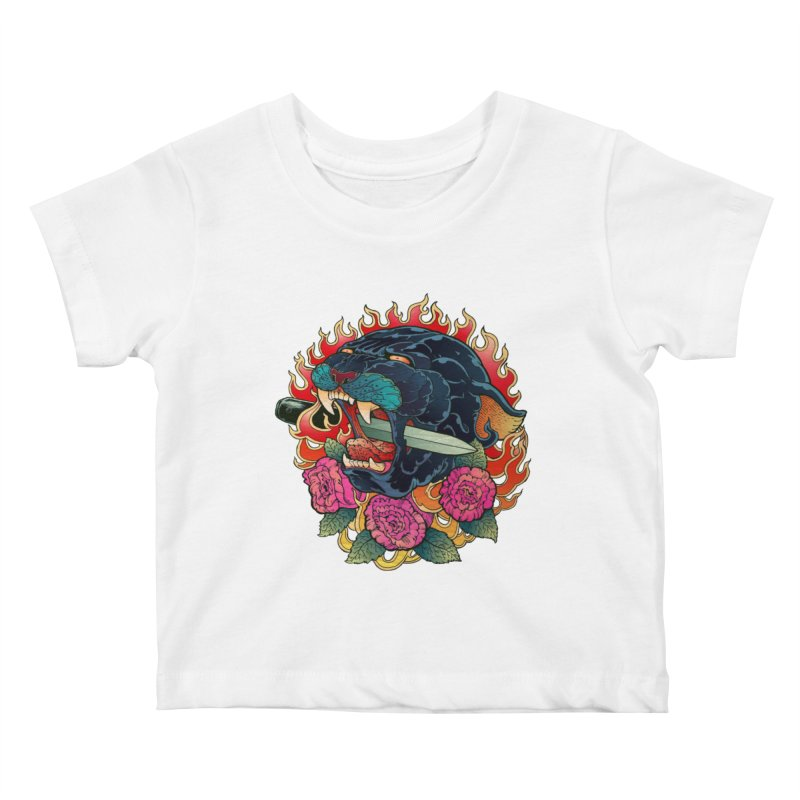 Burning Roses  Kids Baby T-Shirt by villainmazk's Artist Shop