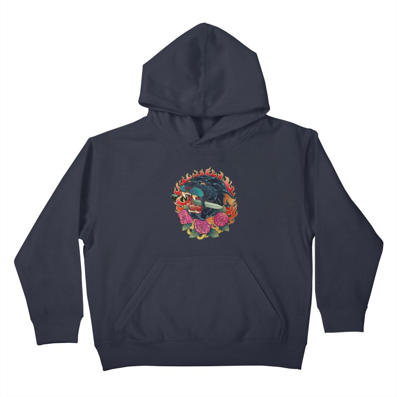 Burning Roses  Kids Pullover Hoody by villainmazk's Artist Shop