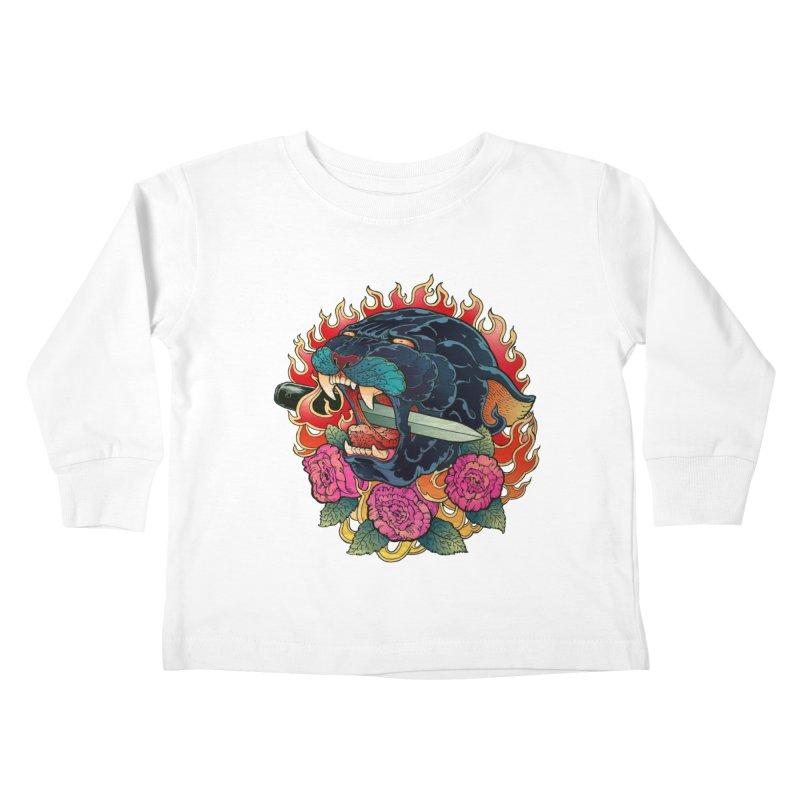 Burning Roses  Kids Toddler Longsleeve T-Shirt by villainmazk's Artist Shop