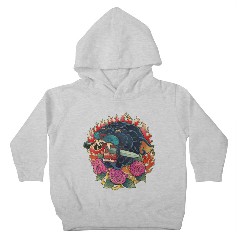 Burning Roses  Kids Toddler Pullover Hoody by villainmazk's Artist Shop