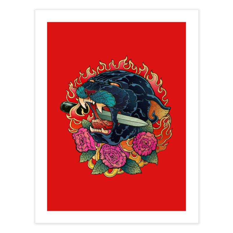 Burning Roses  Home Fine Art Print by villainmazk's Artist Shop