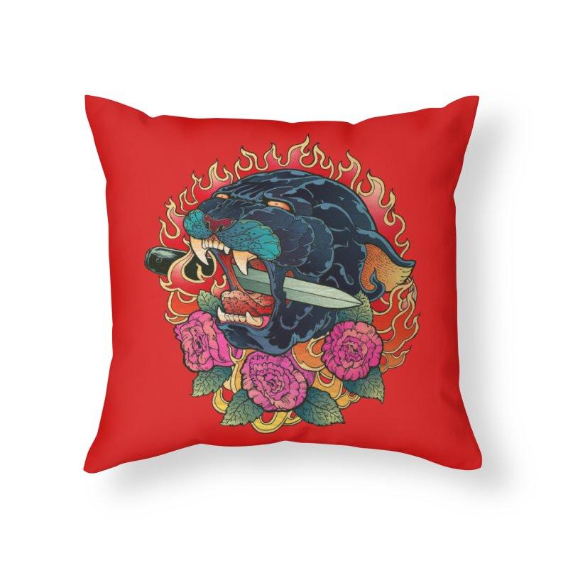 Burning Roses  Home Throw Pillow by villainmazk's Artist Shop