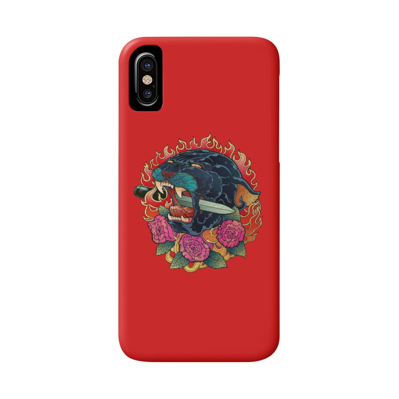 Burning Roses  Accessories Phone Case by villainmazk's Artist Shop