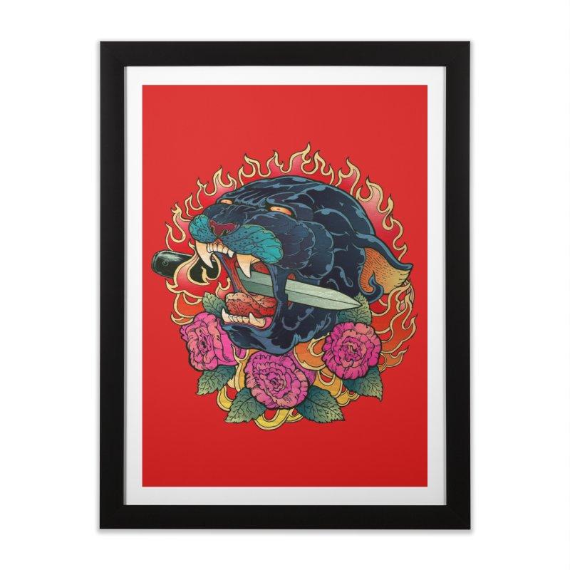 Burning Roses  Home Framed Fine Art Print by villainmazk's Artist Shop