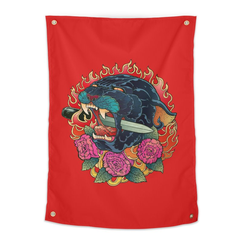 Burning Roses  Home Tapestry by villainmazk's Artist Shop