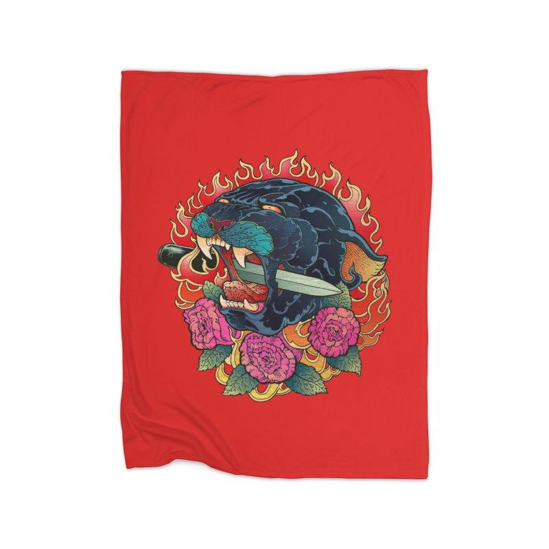 Burning Roses  Home Blanket by villainmazk's Artist Shop