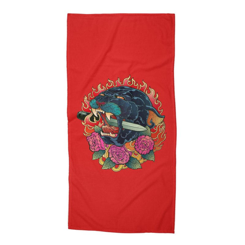 Burning Roses  Accessories Beach Towel by villainmazk's Artist Shop
