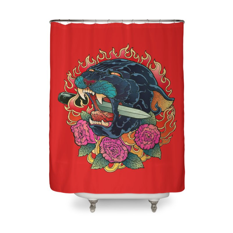 Burning Roses  Home Shower Curtain by villainmazk's Artist Shop