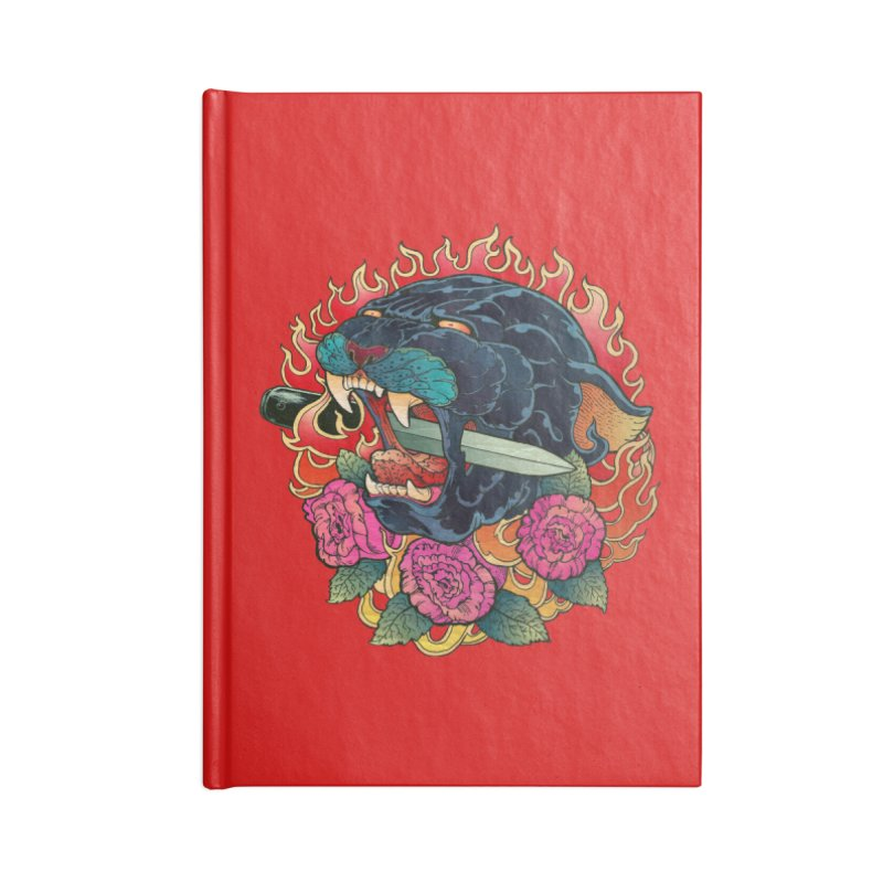 Burning Roses  Accessories Notebook by villainmazk's Artist Shop