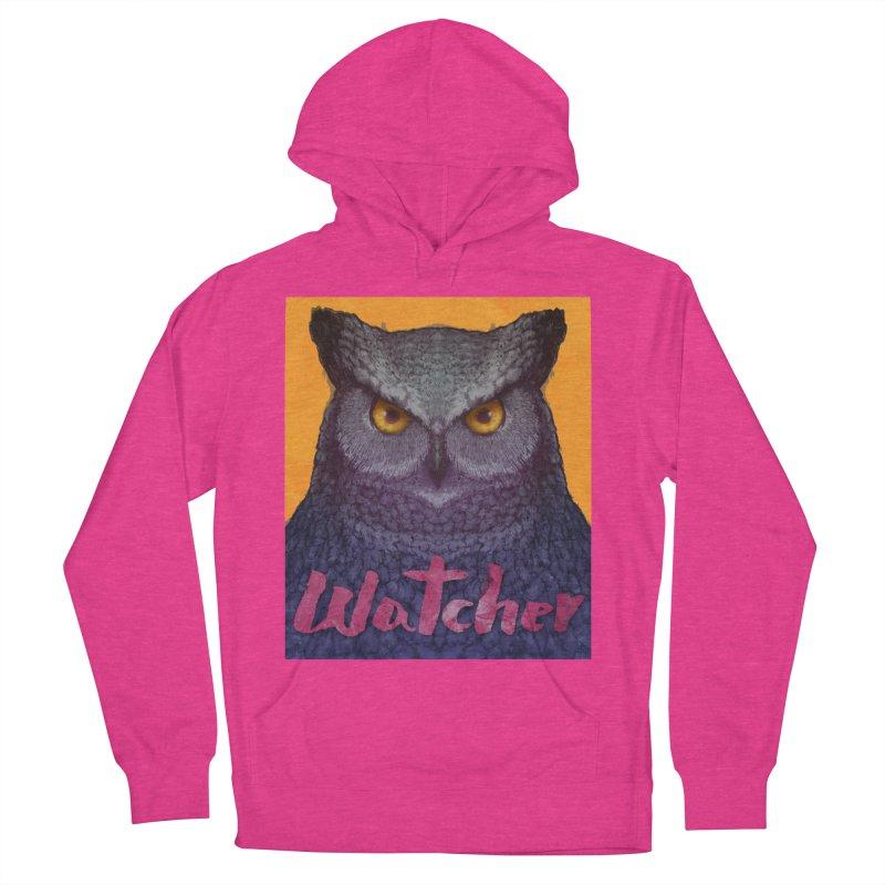 Owl Watcher Women's Pullover Hoody by villainmazk's Artist Shop